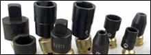 Omega Technologies has developed a line of Universal Adapters and Swivel Sockets that have a maximum tilt of 15°. Available for 1/4'', 3/8'', and 1/2'' square drives