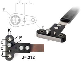 NPJ518RU Single Wing Standard Nut Plate Jig (SWS)