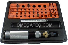 KT-100 Utica Torque Limiting Standard Model Screwdriver 20 Piece Kit