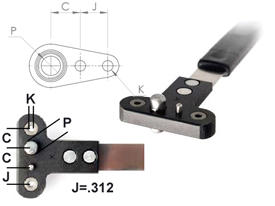 NPJ518RD Single Wing Standard Nut Plate Jig (SWS)
