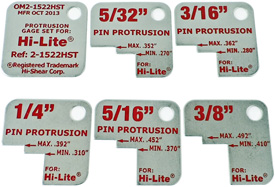 OM2-1522HST Standard Hi-Lite Protrusion Gauge - Red Markings