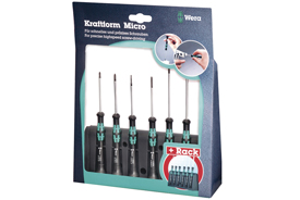 05118150001 Wera 6 Piece Kraftform Drone Repair Screwdriver Set