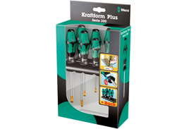 05007680001 Wera 334 SK/6 6 Piece Kraftform Plus Laser Tip Screwdriver Set