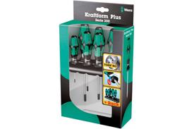 05138250001 Wera 367/6 6 Piece Kraftform Plus Torx Screwdriver Set With Bore Hole