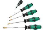 05346301001 Wera 355/5 5 Piece Kraftform Plus Screwdriver Set