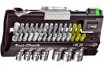 05073220001 Wera Tool Check 1, Bit Ratchet with 28 Bits and 7 Sockets (Metric) Set